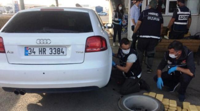 Emekli polisin lüks aracında 61 kilogram eroin ele geçerildi