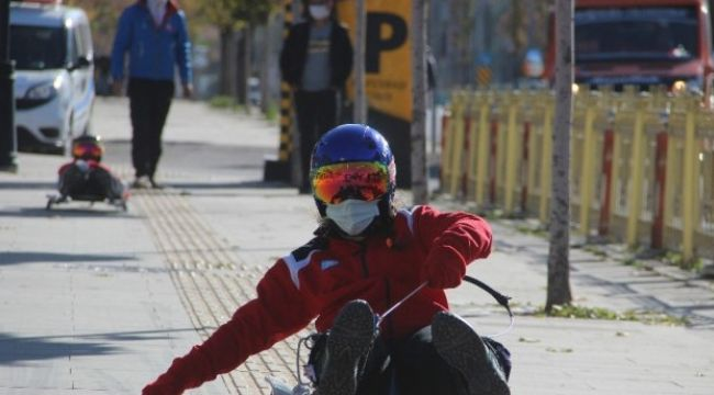 Kış sporları tanıtıldı
