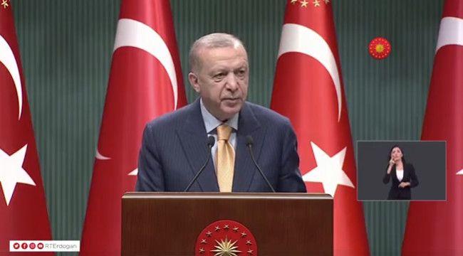 """Erdoğan: """"Mart ayı başı itibarıyla kademeli normalleşme sürecini başlatıyoruz"""""""
