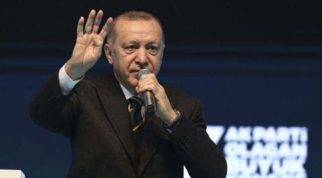 """Erdoğan: """"""""Dünyayı kasıp kavuran salgına rağmen geçtiğimiz yıl yüzde 1,8 büyümeyle..."""