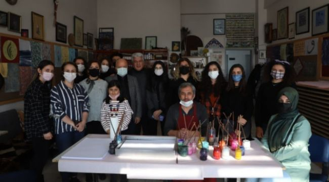 """Yakutiye Anadolu Lisesi'nden """"Kendimi Sanatla Keşfediyorum"""" projesi"""