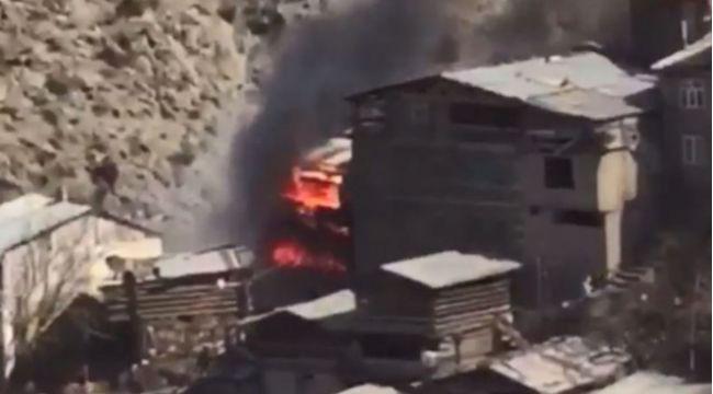 Yusufeli'nde yangın acısı