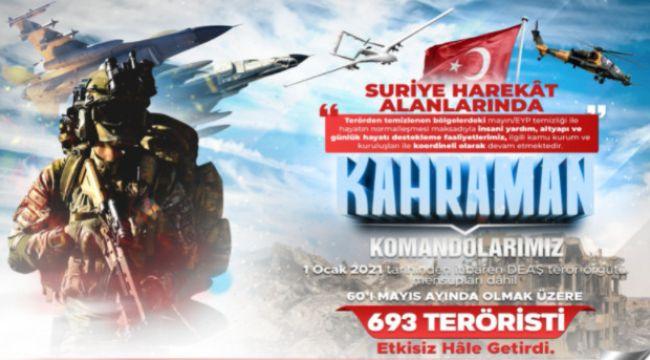 181 operasyonda 225 terörist etkisiz hale getirildi