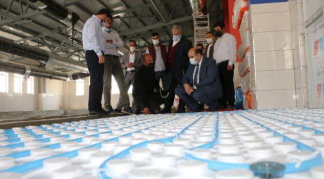 Erzurum Aziziye'de Yarı Olimpik Yüzme Havuzu'nda sona gelindi