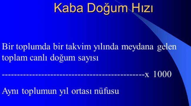 Erzurum'da doğum hızı 15.8
