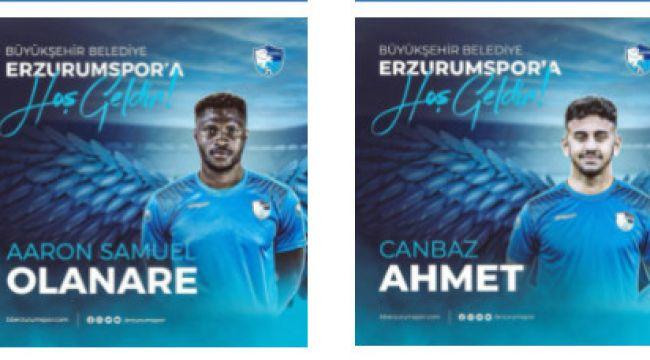 BB Erzurumspor Olanare ve Ahmet Canmaz'ı kadrosuna