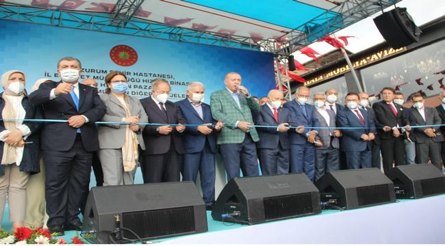 """Cumhurbaşkanı Erdoğan: """"Erzurum'u anlatmaya kelimeler yetmez"""""""