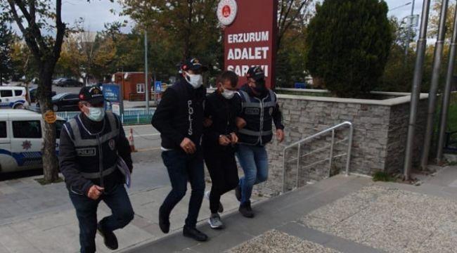 Erzurum polisinden kaçmadı